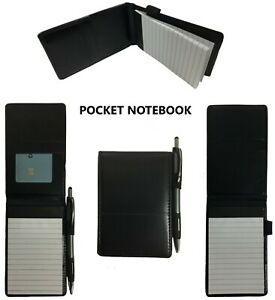 Pocket Notepad Cover Server Book Waiter Memo Order Pad Organizer Black 5 X 3 5