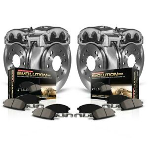 Kcoe6164 Powerstop Brake Disc And Caliper Kits 4 wheel Set Front Rear For Fr s