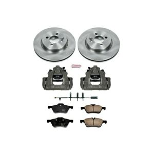 Kcoe5780 Powerstop Brake Disc And Caliper Kits 2 wheel Set Front For Mini Cooper