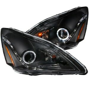 121337 Anzo Headlight Lamp Driver Passenger Side New Lh Rh For Honda Accord
