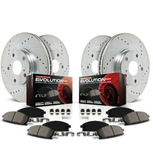 K1305 Powerstop Brake Disc And Pad Kits 4 wheel Set Front Rear New For Mustang