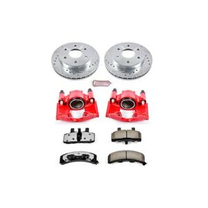 Kc1970 36 Powerstop 2 Wheel Set Brake Disc And Caliper Kits Front For Chevy