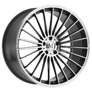 Mandrus 23 Rims Wheels For Mercedes 20x10 5x112 Gunmetal W Mirror Cut Face