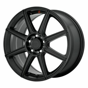Four 4 18x8 Motegi Cs8 Et 35 Black 5x112 Wheels Rims