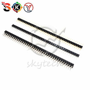Header Strip Connector 40 Pin 2 54mm Round Male female Single double Straight