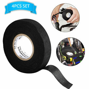 4 Rolls Cloth Tape Wire Electrical Wiring Harness Car Auto Suv Truck 19mm 15m Us