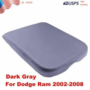 New For Dodge Ram 02 08 Real Leather Center Console Lid Armrest Cover Gray