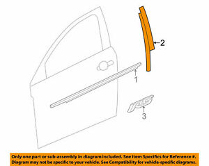 95090576 Oem Front Rh Side Door Pillar Applique Trim For A Chevy Cruze 2012 2016