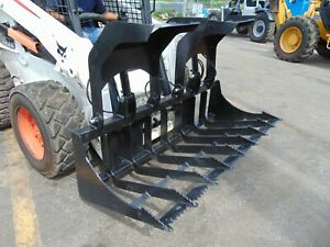 2020 New 72 Root Grapple Skid Steer Bucket Attachment Free Shipping