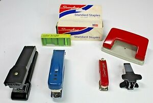 Lot Of Office Supplies Swingline Staplers Bostitch Presto Deluxe Staples Punch