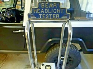 Very Cool 1940s Bear Headlight Alignment Machine Shop Display Etc