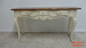 Ethan Allen French Country Sofa Hall Foyer Table Console Paint Distressed