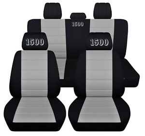 Fits 2010 2020 Chevy Silverado 1500 Truck Seat Covers Black And Color Insert Abf