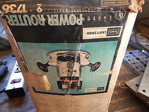 Vintage Craftsman Electric Router With Box 1 4 Collet