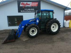 2005 New Holland Tn75da 4x4 Tractor W Loader 1681 Hrs 75 Hp Mech Shuttle Drive