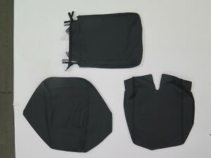 2007 2013 Chevy Silverado Sierra Tahoe Jumpseat Console Leather Covers Black