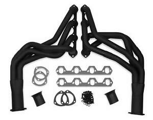 Flowtech Mild Steel Black Painted Long Tube Exhaust Header For Ford Mustang 1979