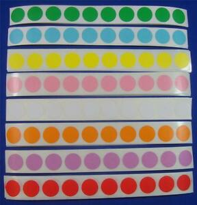 800 Multi Color Self adhesive Price Labels 3 4 Stickers Tags Retail Supplies