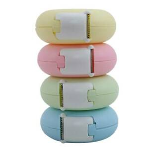 Masking Tape Cutter Heart Donut Shape Candy Color Office Tape Dispenser Tools Q
