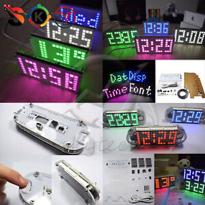 Ds3231 Digital Led Dot Matrix Display Diy Digital Electronic Alarm Clock Kit
