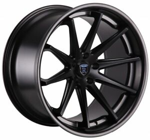 22x9 10 5 Rohana Rc10 5x108 42 Matte Black Wheels New Set 4