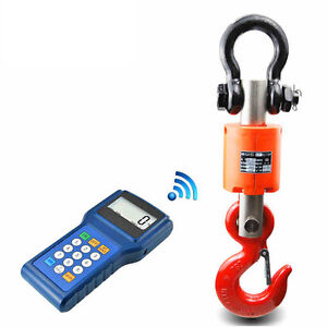 3t 5t 10t Wireless Digital Electronic Hanging Crane Scale With Handheld Meter