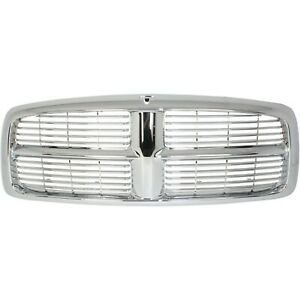 Grille For 2002 2005 Dodge Ram 1500 2003 2005 Ram 2500 Chrome Plastic