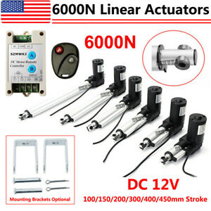 Linear Actuator 6000n 1320lbs 12v Dc Electric Motor Auto Window Lift Sofa Bed Ig