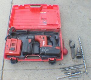 Hilti Te 6 a 36v Cordless Rotary Hammer Drill Kit W charger 2 Batteries Case