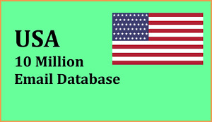 New 10 Million Usa Email List For Marketing Business Usa Targeted Email List