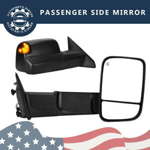 Passenger Right For 2009 2012 Dodge Ram 1500 Power Heated Led Signal Tow Mirror