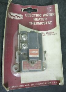 Dayton 2e050a Electric Water Heater Thermostat