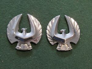 Late 1970s Early 1980s Era Chrysler Imperial Chrome Bird Taillight Emblem Lot