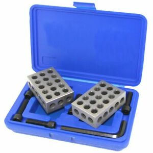 1 2 3 123 Block Ultra Precision Mill Screws Clamping Set Kit Case Machinist Tool