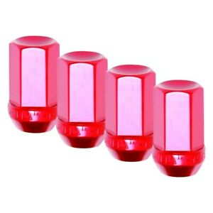 For Chevy Camaro 82 02 Red Cone Seat Aluminum Racing Closed End Lug Nuts