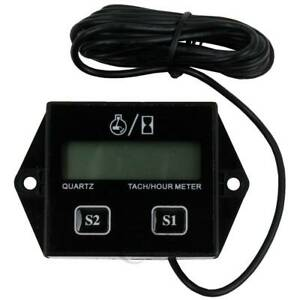 Digital Tach Hour Meter Tachometer Gauge For Atv Utv Gas Engines 2 4 Stroke