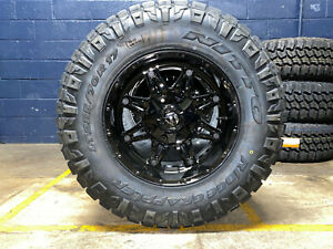 17x9 D625 Fuel Hostage Wheels 33 Nitto Ridge Tires 6x5 5 For Toyota Tacoma