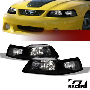 Sale For 1999 2004 Ford Mustang Black Clear Housing Headlights Signal Lamps Nb