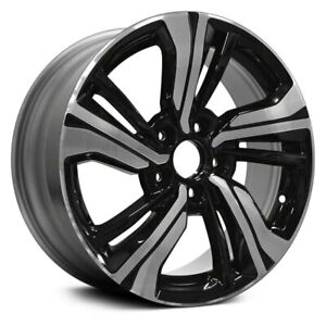 For Honda Civic 16 18 10 Slot Machined Black 17x7 Alloy Factory Wheel Replica