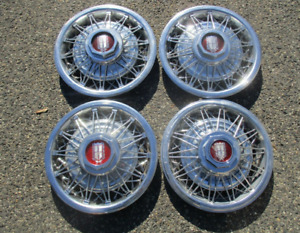 Factory Ford Ltd Mercury Marquis 14 Inch Wire Spoke Hubcaps Wheel Covers