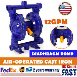 Air operated Double Diaphragm Pump Qbk 15 115psi 12gpm W 1 2 Inlet