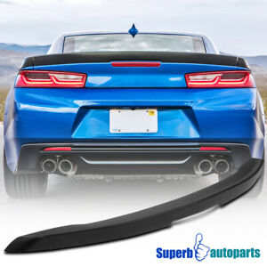 For 2016 2020 Chevy Camaro Matte Black Abs 3 Piece Blade Rear Trunk Wing Spoiler