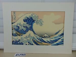 Japanese Hokusai Mt Fuji Great Wave Wood Block Print Big Waves Japan Art Decor