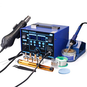 2in1 Soldering Iron Hot Air Rework Station With Multiple Functions 862bd Smd Esd