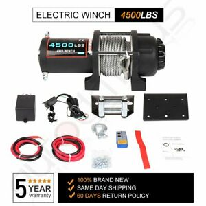 Winch Atv Utv Winch 4500lbs Electric Cable Winch Steel Rope 4wd Off Road Truck