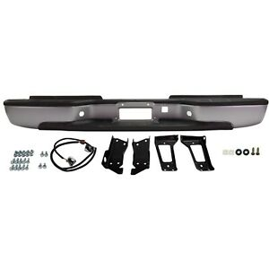 Silver Rear Bumper Assembly For 1999 2007 Chevy Silverado Sierra 2500hd 3500