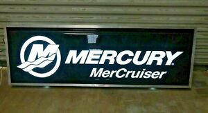 Mercury Marine Mercruise Aprox 24 X 72 Illuminated Lighted Exterior Box Sign