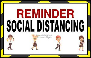 Social Distancing Decal choose Your Size Ice Cream Truck Concession Sticker