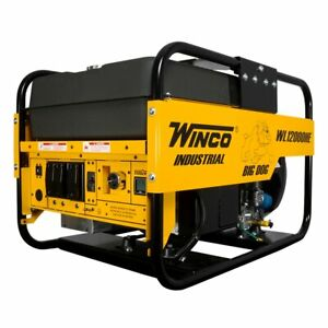 Winco Wl12000he 03 a 10 800 Watt Electric Start Portable Generator W Honda