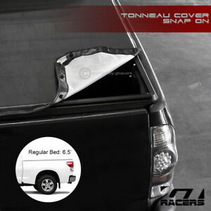 For 2004 2006 Toyota Tundra 6 2 Ft Short Bed Snap on Soft Vinyl Tonneau Cover